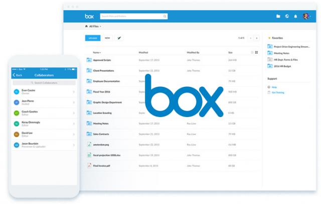 クラウドファイル共有サービス「box」